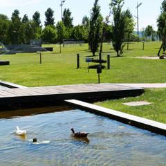 Parque da Barquinha Jardins modernos por OpenGreen Moderno