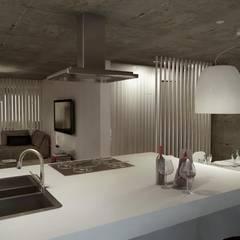مطبخ تنفيذ Santiago | Interior Design Studio , صناعي