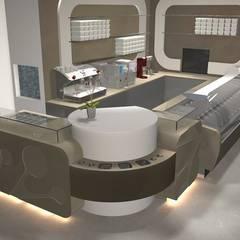 Gelateria Ebersberg: Centri commerciali in stile  di Masi Interior Design di Masiero Matteo