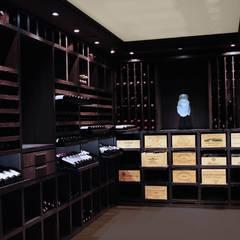 Cave à vin sur mesure en wengé - Luxembourg: Cave à vin de style  par Degré 12