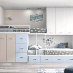 dormitorio tren : Dormitorios infantiles de estilo  de Toca Fusta
