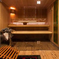 Projekt 48 _  sauna: styl wiejskie, w kategorii Spa zaprojektowany przez k.halemska