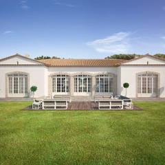 Render 3D de una casa de lujo en Saint Tropez, Francia: Casas de estilo  de Berga&Gonzalez - arquitectura y render