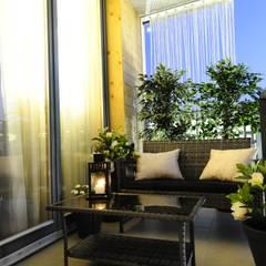 Apartament na Kazimierzu: styl , w kategorii Taras zaprojektowany przez AgiDesign
