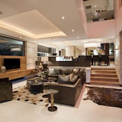 SGNW House:  Living room by Metropole Architects - South Africa