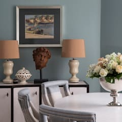 The Bromptons: Chelsea:  Dining room by Roselind Wilson Design