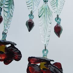 Poppy glass chandelier shade - detail:  Corridor, hallway & stairs by A Flame with Desire