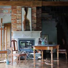 pracownia, salon: styl , w kategorii Ściany zaprojektowany przez szaro-biało
