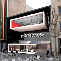 محلات تجارية تنفيذ Víctor Lusquiños. Arquitecto