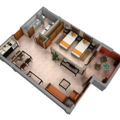 Planos de corte 3D Casas: Ideas, imágenes y decoración de Realistic-design