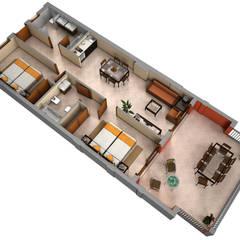 Planos de corte 3D : Casas de estilo  de Realistic-design,