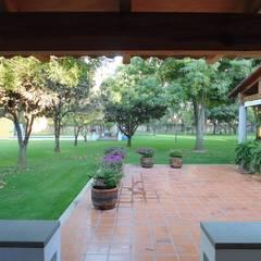 Huerta en Tesistán: Terrazas de estilo  por Taller Luis Esquinca