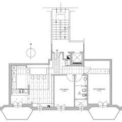 Casas de estilo  de ecoArchitettare, Minimalista