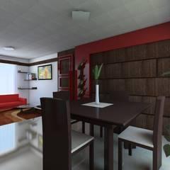 اتاق غذاخوری by JRK Diseño - Studio Arquitectura
