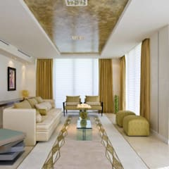 Ultra-modern and 'never seen before' art only by home makers:  Living room by home makers interior designers & decorators pvt. ltd.