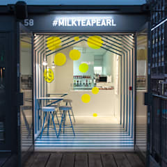 Milk Tea & Pearl Boxpark:  Commercial Spaces by atelier Y A O,
