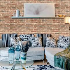 Paredes y pisos de estilo rural de homify Rural Aglomerado