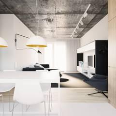 MIESZKANIE PJ: styl , w kategorii Salon zaprojektowany przez 081 architekci