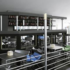Реконструкция помещения в здании кинотеатра Аврора, Краснодар: Медиа комнаты в . Автор – De Steil, Минимализм