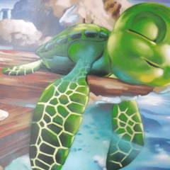 CHAMBRE d'enfant thème marin / océan: Chambre d'enfant de style de style Méditerranéen par Popek décoration
