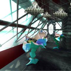 Wnętrze butiku z biżjuterią Prada poziom 0: styl , w kategorii Powierzchnie handlowe zaprojektowany przez izabela jaroszek