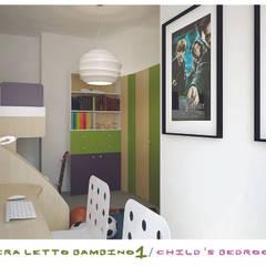 child's bedroom: Stanza dei bambini in stile  di ZENZEROdesign