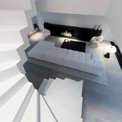 Habitation Privée Vieux-Lille: Salon de style  par mayelle architecture intérieur design