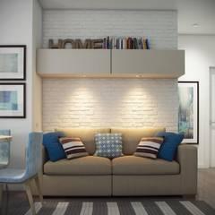ЖК Отрада: Гостиная в . Автор – Massimos / cтудия дизайна интерьера,