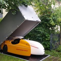 Garage für Liegefahrräder / Velomobil :  Garage & Schuppen von Planen Krämer