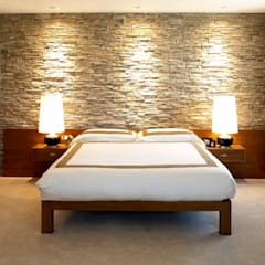 Interiors can also be beautified by simple stone techniques:  Bedroom by DT