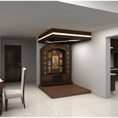 Pooja room:  Houses by Neeras Design Studio