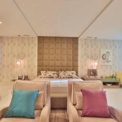Projeto residencial de arquitetura e ambientação.: Quartos  por Rita Albuquerque Arquitetura e Interiores,Moderno
