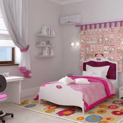 Дом в клубном посёлке: Детские комнаты в . Автор – Студия дизайна 'New Art',