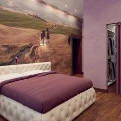 Дом в клубном посёлке: Спальни в . Автор – Студия дизайна 'New Art',