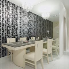 DINING AREA: eclectic Dining room by shahen mistry architects