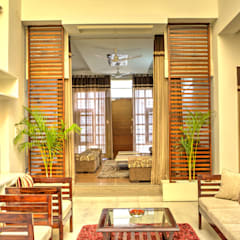 Lobby area:  Houses by Studio An-V-Thot Architects Pvt. Ltd.