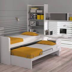Cama nido móvil con somier inferior extraíble : Dormitorios infantiles de estilo  de Sofás Camas Cruces