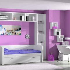 Mobiliario juvenil : Habitaciones de niñas de estilo  de Sofás Camas Cruces