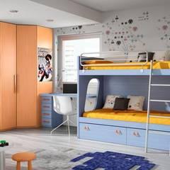 Mobiliario juvenil : Habitaciones de niños de estilo  de Sofás Camas Cruces