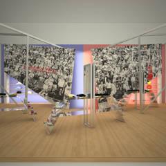 Stoisko wystawowe marki Mitchell&Ness od QCA Nowoczesny