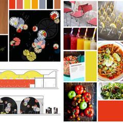 Identité visuelle - Café restaurant Fresh Up à Bordeaux: Restaurants de style  par Agence Ideco