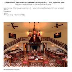 Exemples de réalisations: Restaurants de style  par Brigitte Dumont de Chassart