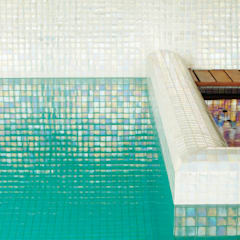 Aqualuxe Iridescent Glass Mosaic by The Mosaic Company.:  Pool by The Mosaic Company