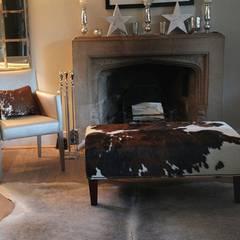 Cowhide Footstool:  Living room by London Cows