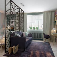 غرفة المعيشة تنفيذ Anna Clark Interiors