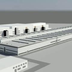 VW-Fabrikhalle in Emden - Verbesserung Energieeffizienz, Senkung Investitions- und Betriebskosten:  Autohäuser von alware GmbH - Ingenieurbüro für Bauphysik und Gebäudesimulation