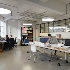 Drakes Headquarters, 76 East Road:  Offices & stores by Hawkins/Brown,