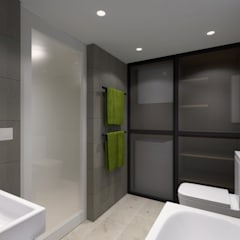 LT's RESIDENCE:  Bathroom by arctitudesign, Minimalist