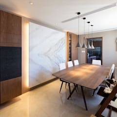LP's RESIDENCE :  Dining room by arctitudesign, Minimalist