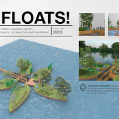 Erasmus experience - floating structures:  Commercial Spaces by DariaTagliabue,Modern